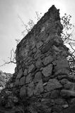 Old ruined wall BW, Giglio Island, Italy. Old damaged wall BW, Giglio Island, Italy Stock Photo