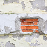 Old damaged wall with plaster peeling off Royalty Free Stock Image