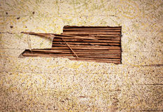 Old Damaged Wall or Reed Stock Photography