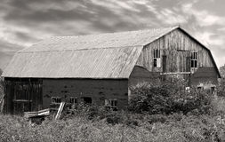 Old damaged wooden Barn Royalty Free Stock Photography