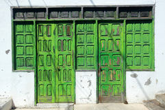 Old damaged wooden doors Stock Images
