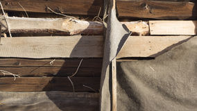 Old damaged wooden wall Royalty Free Stock Photography