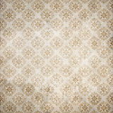 Old damasc wallpaper. Old rusted flourish repetitive wallpaper Royalty Free Stock Image