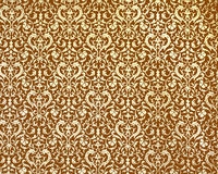 Old, damascus pattern. On brown background Royalty Free Stock Image