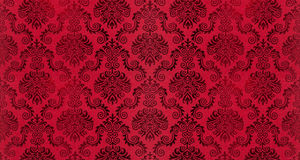 Old damask wallpaper background Royalty Free Stock Images