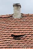 Old damged roof Stock Photography