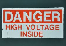 Old danger sign Stock Images