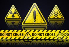 Old Danger sign Royalty Free Stock Photo