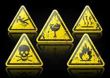 Old Danger sign Royalty Free Stock Photography
