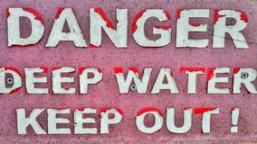 Old danger sign Stock Image