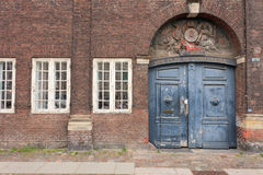 Old Danish Door Royalty Free Stock Images