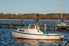 Old Danish hobby fishing boat. In port of Praestoe Royalty Free Stock Images