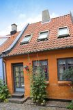 Old Danish house. In the city of Aarhus Royalty Free Stock Photos