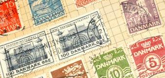 Old Danish Stamps In Album Stock Image