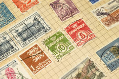 Old Danish Stamps In Album Stock Images