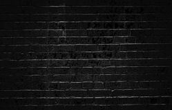 Old dark black brick wall. Rustic old dark black brick wall Stock Photography