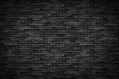 Old dark black brick wall texture background royalty free stock photos