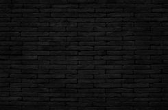 Free Old Dark Black Brick Wall Texture With Vintage Style For Background And Design Art Work Stock Photo - 130972170