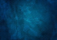 Old dark blue grunge hexagons texture background. Vector design illustration Royalty Free Stock Photography