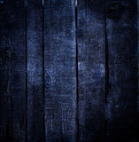 Old  dark blue   grunge wood background with knots and scratches Royalty Free Stock Photos