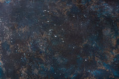Old dark blue painted plywood texture, wallpaper and background Stock Images