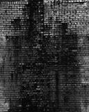 Old dark brick wall. Background, texture of a brick. Free space for your design. A blank for creativity Stock Photo