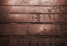 Old dark brown metal wall background royalty free stock photography