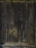 Old dark brown wood fence background texture Stock Photography