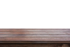 Old dark brown wood table top Stock Images
