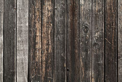 Old dark brown wooden wall background texture Royalty Free Stock Photography