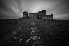 Old dark castle ruins Royalty Free Stock Photos