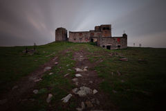 Old dark castle ruins Royalty Free Stock Images