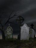 Old dark cemetery Stock Photography