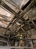 Old dark, decaying, destructive, dirty factory. Old creepy dark  destructive dirty factory Royalty Free Stock Photos