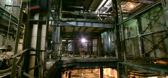 Free Old Dark Decaying Dirty Factory Royalty Free Stock Images - 44754099