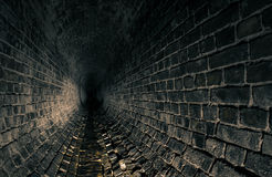 Old dark drain catacombs Royalty Free Stock Images