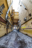 Old dark gateway. Saint-Petersburg, Russia Stock Photo
