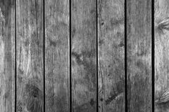 Old dark gray weathered wooden wall texture Royalty Free Stock Image