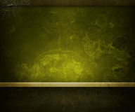Old Dark Green Room Royalty Free Stock Image