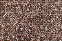 Old dark mosaic tile wall background Stock Photos