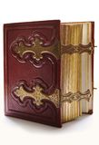 Old dark red antique book Stock Photo