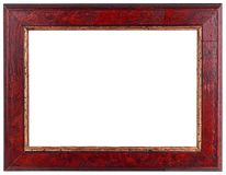 Old Dark Red Wooden Frame Royalty Free Stock Photo