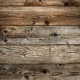 Old dark stained wood grain background square format flat royalty free stock image