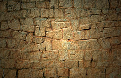 Old dark Stone wall  Royalty Free Stock Image