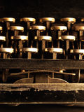 Old dark typewriter Stock Image