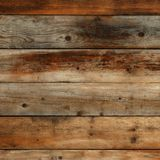 Old dark vintage wood wall background texture square format. Old dark wood wall background Stock Photo