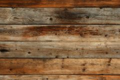 Old dark wood wall background horizontal. Old dark wood wall background straight Stock Photography