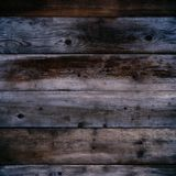 Old dark wood wall night background square format. Old dark wood wall night background square Royalty Free Stock Images