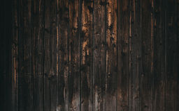 Old dark wood wall Royalty Free Stock Images