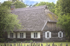 Old dark wooden house, Lithuania Stock Image
